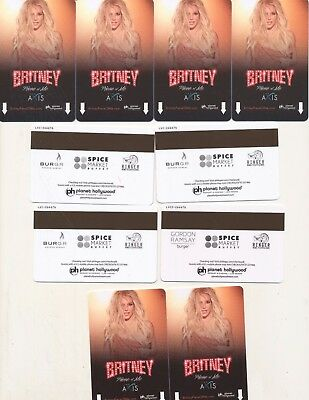 "10--Never swiped--- ""Britney"" ---PLANET HOLLYWOOD---Las Vegas,NV------Room Keys"