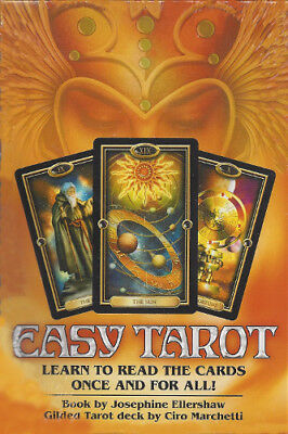 EASY TAROT BOX KIT Boxed Fairy Deck Card & Book Set gilded oracle fortune cards