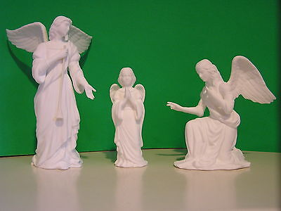LENOX NATIVITY 3 ANGELS of ADORATION  set Bisque  NEW in BOX with COA Bone China