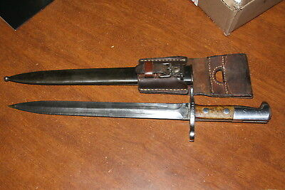 Swiss Schmidt Rubin K31 - Bayonet and Scabbard with original frog M1918