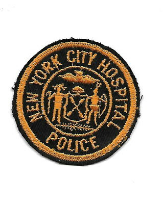 New York City Hospital, small, OLD police patch