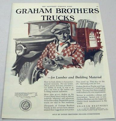1927 Print Ad Graham Brothers Trucks Division of Dodge Brothers