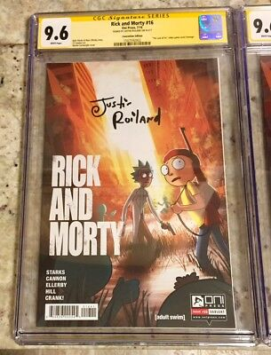 Rick and Morty #16 CGC SS Roiland 9.6 Convention Last of Us Homage Variant Oni