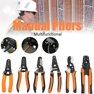 Multifunctional Cable Wire Stripper Cutter Crimper Stripping Pliers Tools Handle