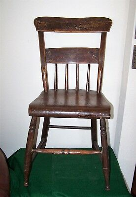 ANTIQUE  Bent Back  FARMHOUSE CHAIR