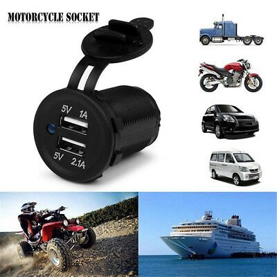 12-24V Dual USB Port Car Charger Power Adaptor Splitter Cigarette Lighter Socket