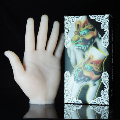 Pro Permanent Makeup Soft Silicone Training Tattoo Practice Fake Skin Hand Model