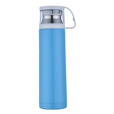 500ml Vacuum Insulated Flask Thermal Sports Water Bottle Hot/Cold Blue