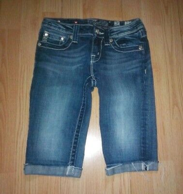 Miss Me Girls Blue Jean Denim Shorts Size 14
