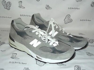 NEW BALANCE 991 Gray Suede Running Sneakers Mens Size 12 D WORN ONCE