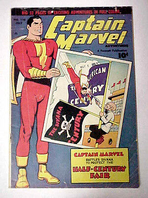 Captain Marvel Adventures #110 GD/VG 1950 Fawcett Comics The Big Red Cheese