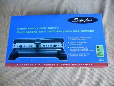 Brand New - SWINGLINE 74450 - 4 HOLE HEAVY DUTY PUNCH