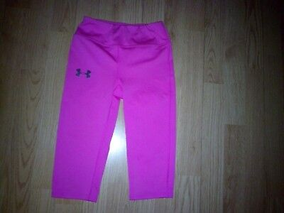 Under Armour Girls Pink Athletic Bottoms Size Ysm Youth Small