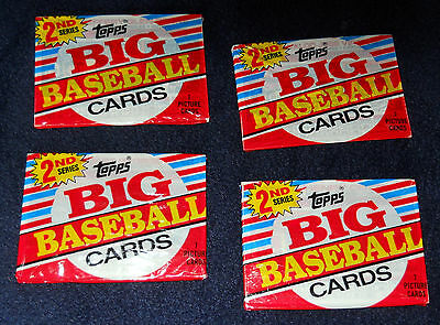 28 Topps Big Baseball Cards from 1988  - FOUR unopened packs - 2nd Series