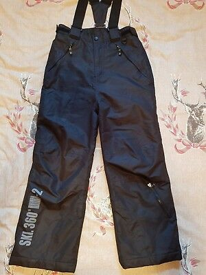 Girls Boys Winter Snow Pants padded Age 10-11 Black Trousers salopettes goodcond