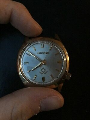 Lot of 2 Accutron Men's Watches- 1 Steel and 1 Rolled Gold Plate