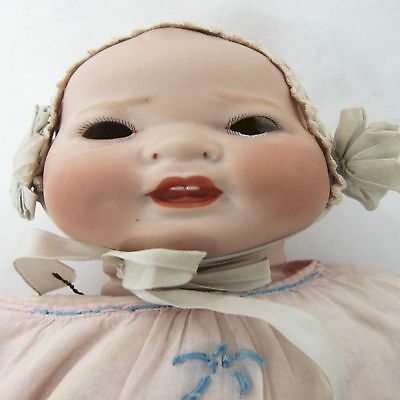 Antique Bisque German Porcelain Kestner Doll Century Solid Dome French Mkt Toy