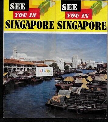 Singapore 1960 Tourism See You In Singapore History-Facts-Hotels-Sights Brochure