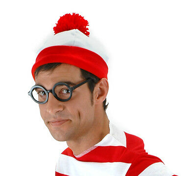 Wheres Waldo Adult Costume Beanie Hat By Elope