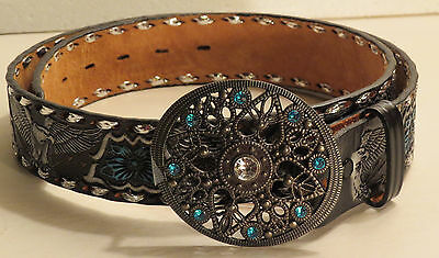 Ladies Nocona Leather Belt, size 34 with complimentary Metal Belt Buckle