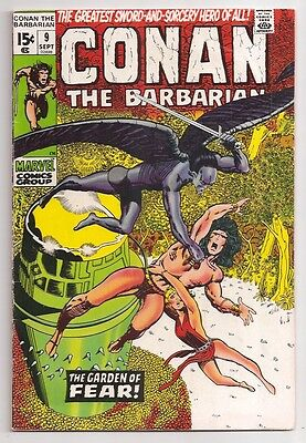 Conan The Barbarian 9 FnVf Barry Windsor Smith Art Marvel Comic Book 1971 Bronze