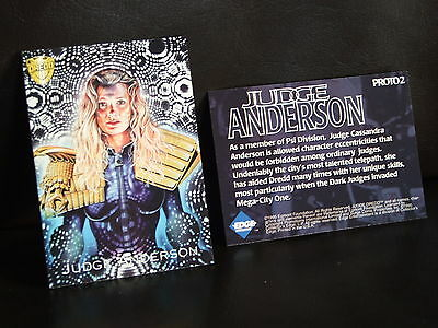 Judge Dredd Promo Card PROTO 2 - Judge Anderson