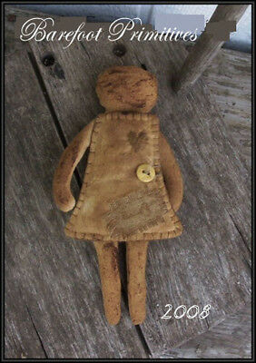 Primitive simple Early Sewing doll Pin Keep Paper Patten