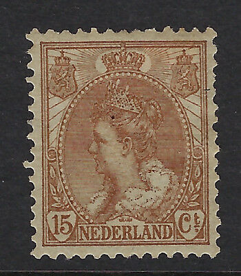 NETHERLANDS : 1899 Queen Wilhelmina definitives 15c brown SG 181 mint