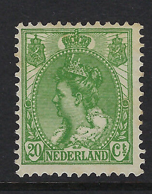 NETHERLANDS : 1899 Queen Wilhelmina definitives 20c green SG 185 mint