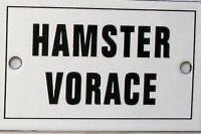 BE FRENCH! LAST Hamster Vorace Black & White SOUVENIR Steel Sign NEW from FRANCE