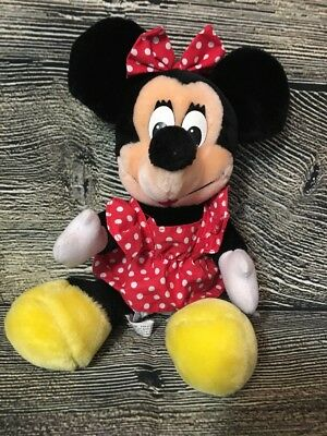 Vintage Disneyland Walt Disney World Minnie Mouse Plush Stuffed Toy SEE DESC