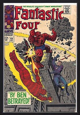 Fantastic Four #69  Very Good+ 4.5!   Nice White Cover!