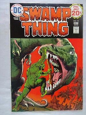 Swamp Thing #12   High Grade VF/NM   Dinosaurs   Len Wein   Nestor Redondo