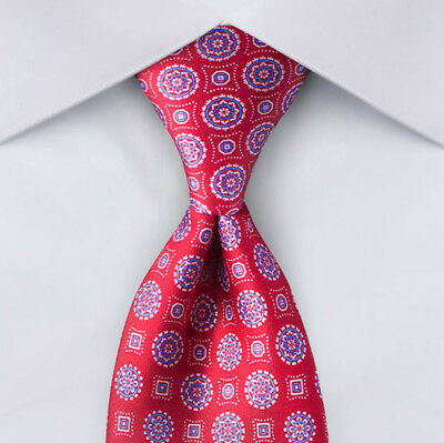 "NEW Blue & Red BRIONI Tie Silk  59.5""x 3"" Men's Made Italy Pair w/ Navy suit s"