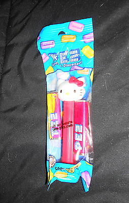 Collectible Hello Kitty Pez Dispenser & Candy - New In Package (Red Bow)