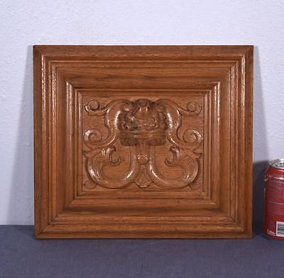 *Vintage French Carved Oak Wood Panel w/Cornucopia and Griffins (6 AVAILABLE)