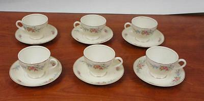 6 Nautilus Eggshell D41 N5 Cups And Saucers!! M67