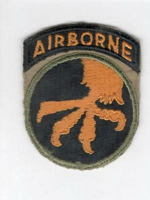 WW 2 US Army 17th Airborne Patch Attached Tab Inv# V595