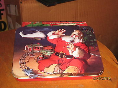 Santa Claus with Train Coca Cola Playing Cards Double Deck Mint