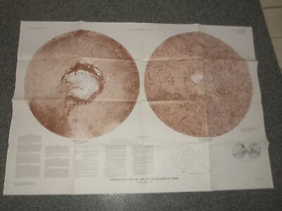 NASA Topographic Maps of the Polar, Western and Eastern Regions of Mars 1992