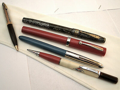 Vintage Fountain ' Cartridge Pens & Mechanical Pencils (5) As Is ' Stratford