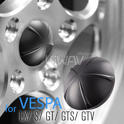 VAWiK CNC Anodizing Aluminum Wheel Hub nut cover black for Vespa LX S GT GTS GTV