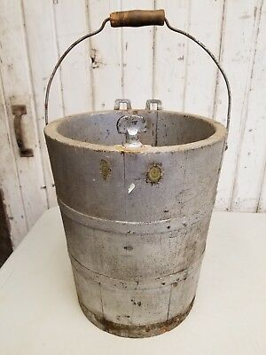 Old Vintage Wooden Farm Bucket ~ Primitive Rustic Antique Barn Primitive Decor