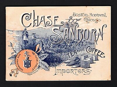 1889 Trade Card Booklet - 50 pages - Chase & Sanborn Coffee - West Farmington ME
