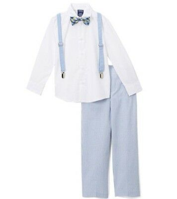 Boys IZOD suit outfit 2T 3T 4 5 6 NWT seersucker pants white dress shirt Easter