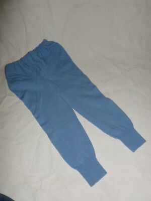 wool longies longie *NEW* diaper cover leggings pants light blue XXL