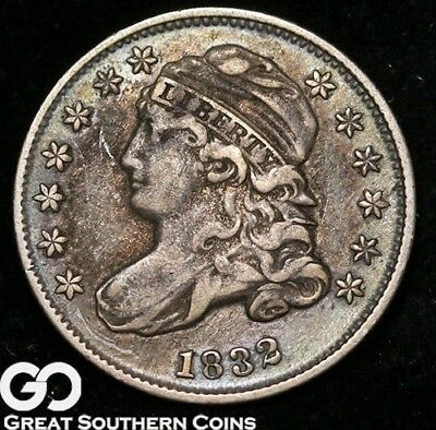 1832 Capped Bust Dime, Tough XF++ Early Silver Type