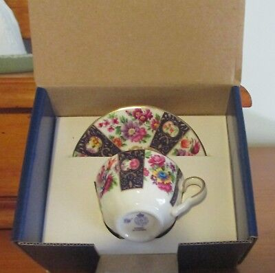 LIMITED EDITION - Royal Worcester - Miniature Cup and Saucer - String of Flowers