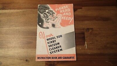Vintage 1940s Kirby Vacuum Cleaner Model 508 Instruction Manual Booklet