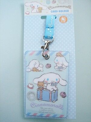 2017 Sanrio Cinnamoroll Dog Lanyard ID Card Holder Pass Case  ~ Free Shipping